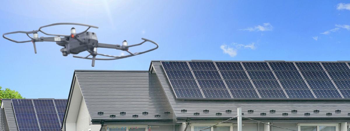 太陽光発電ドローン